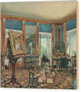 Study In Palais Rasumofsky On Landstrasse In Vienna        Wood Print