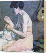 Study Of A Nude, 1880. Artist Paul Wood Print