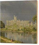 Study Of Windsor Castle Wood Print
