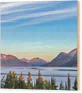 Stunning Alaskan Mountain Lake Wood Print