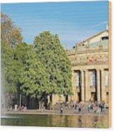 Stuttgart Opera House Wood Print