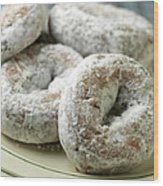 Sugar Doughnuts Wood Print