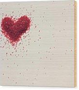 Sugar Heart Wood Print