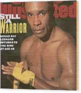 Sugar Ray Leonard, Middleweight Boxing Sports Illustrated Cover Wood Print
