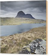 Suilven On A Stormy Day Wood Print