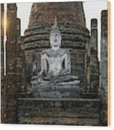 Sukhothai Buddha Wood Print