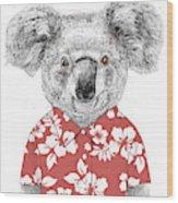 Summer Koala Wood Print