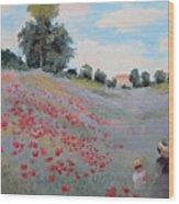 Summer Landscape Oil Painting Wood Print