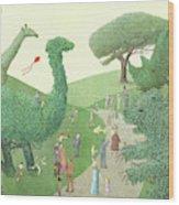 Summer Park Wood Print