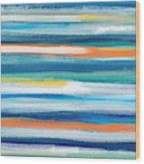 Summer Surf 3- Art By Linda Woods Wood Print