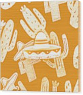 Summerbrero Wood Print
