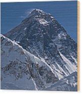 Summit Of Mt Everest8850m Great Details Wood Print