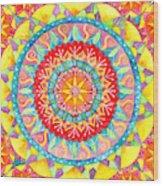 Sun Mandala Wood Print