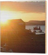 Sun Rise At Lyme Regis  Wood Print
