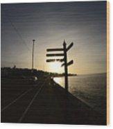 Sun Rise Sign Wood Print