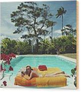Sunbathing In Barbados Wood Print