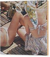 Sunbathing In Nice Wood Print
