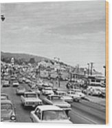 Sunday Traffic In Laguna Beach Wood Print