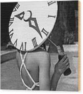 Sundial Hat Wood Print