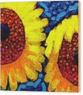 Sunlover Quintet  Wood Print