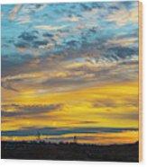 Sunrise At Beaumont Wood Print