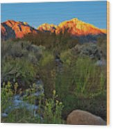 Sunrise At Mount Whitney From Tuttle Creek Wood Print