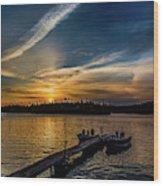 Sunrise Dog Lake Wood Print