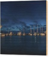 Sunrise In Rockport Wood Print
