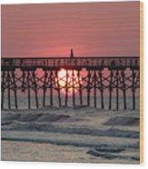 Sunrise Myrtle I Wood Print