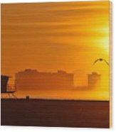 Sunrise On Coronado Wood Print