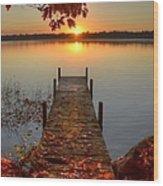 Sunrise On Pelican Lake Wood Print
