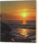 Sunrise Over Indian River Inlet Wood Print