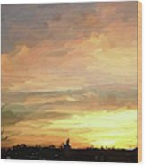 Sunset 092118 1a Wood Print