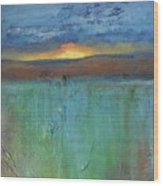 Sunset - Abstract Landscape Painting Wood Print