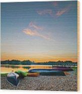 Sunset At Kayak Putrajaya Lake Wood Print