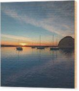 Sunset At Morro Bay Wood Print