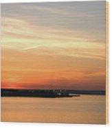 Sunset, Bay Of Palma Wood Print