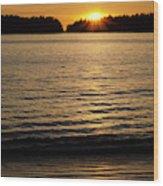Sunset Beach Vancouver Island 2 Wood Print