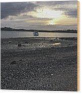 Sunset By Bucklands  Beach Wood Print