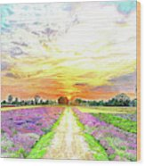 Sunset - Colors Of Nature Wood Print