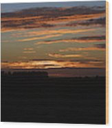 Sunset In Southern Missouri Wood Print