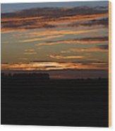 Sunset In Southern Missouri Wood Print