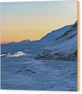 Sunset In The Arctic Wood Print