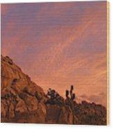 Sunset, Joshua Tree National Park Wood Print