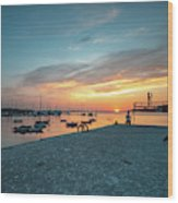 Sunset Looker Wood Print