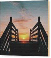 Sunset Magic Wood Print