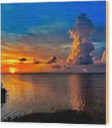 Sunset On Cudjoe Bay 8584 Wood Print