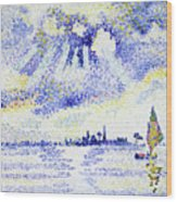Sunset On The Lagoon, Venice - Digital Remastered Edition Wood Print