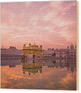 Sunset Over Sikhisms Holliest Wood Print