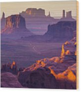 Sunset Over The Hunts Mesa Wood Print